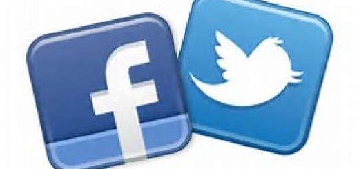 social media icons - facebook and twitter