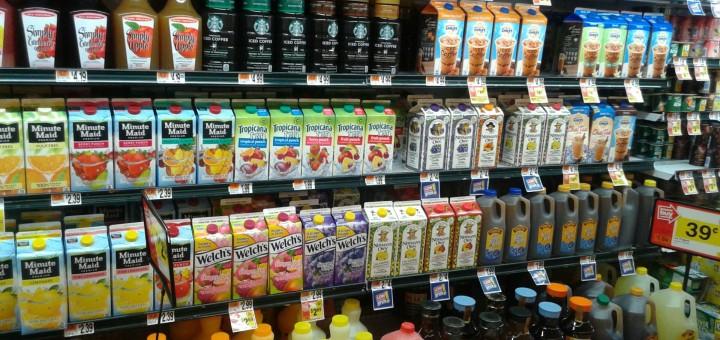 a supermarket shelf