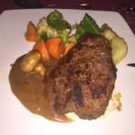 Eland Steak served with some vegetables