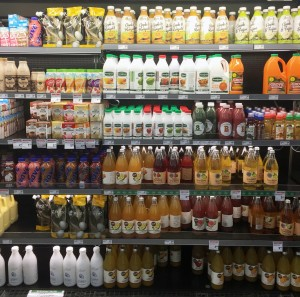drinks in a supermarket