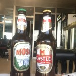 two bottles of South African beer