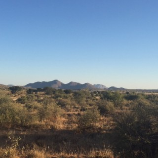 the view during the Safari in Namibia