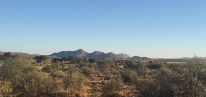 the landscape in Namibia