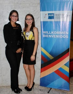 Ana Chenche (left) and Karelys Laya (left), foreign representatives Venezuela