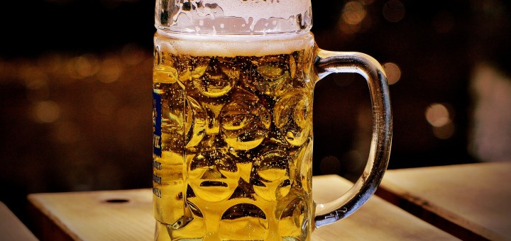 a big glass of beer