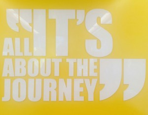 it´s all about the journey