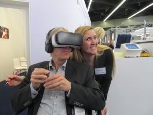 Sossna in der virtuellen Umwelt mit der Pressesprecherin von Döhler, Daniela Wolfstädter, von der Sossna in diesem Moment, weil auf der Alm, nichts mitbekam