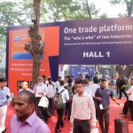 a crowd walking into the hall of the drinktec India