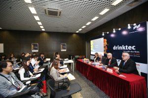 Pressekonferenz der drinktec während der China  Brew China Beverage