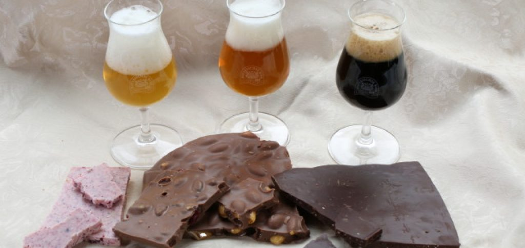 different kinds of beer and chocolate