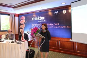 The drinktec press conference in Vietnam
