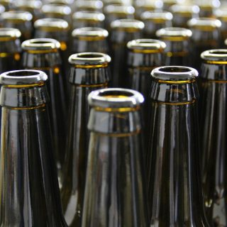 many beer bottles