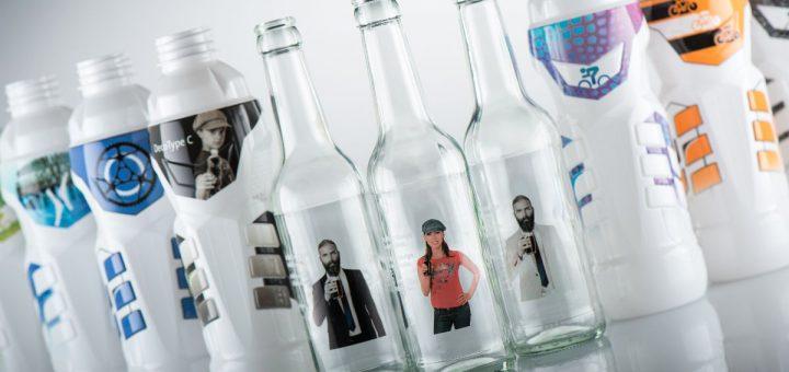 verschiedene Trinkflaschen