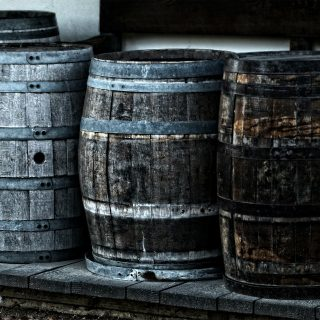 Craft beers from wooden barrels