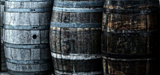 Craft beers from wooden barrels