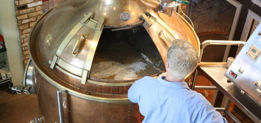 A brewer at his work