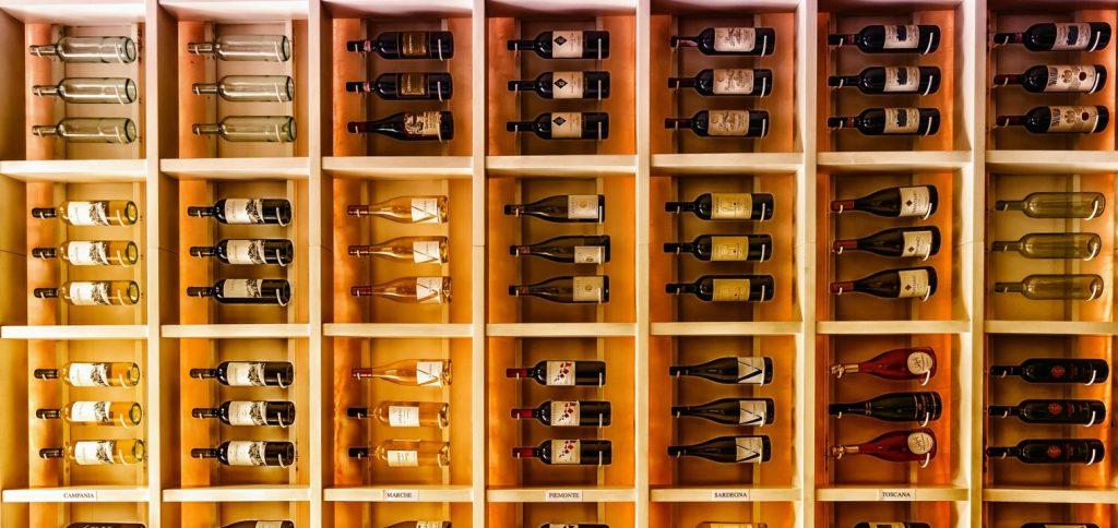 Wine bottles art