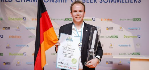 Last Sunday at the Munich trade fair before the opening of drinktec: The fifth World Championship title went to beer sommelier Stephan Hilbrandt of Bonn.