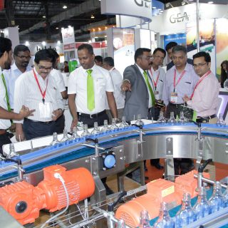Produktpräsentation auf der drink technology india
