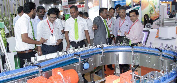 Produktpräsentation auf der drink technology india