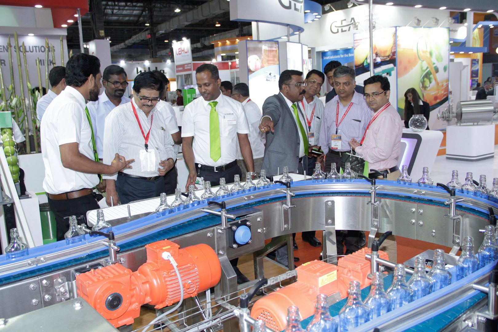 Product presentation at drink technology india