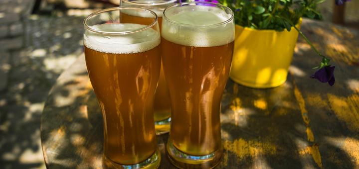 Drei Biergläser