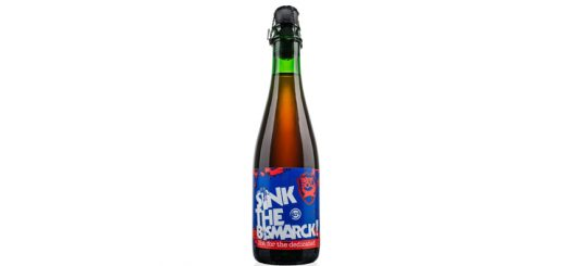 A bottle of a strong beer called Sink The Bismarck