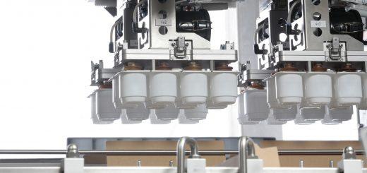 Eine Maschine in einer Fabrik