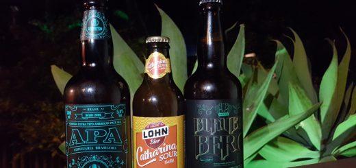 Drei Flaschen brasilianisches Bier