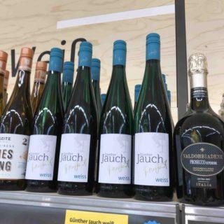 Flaschen von Günther Jauchs Wein