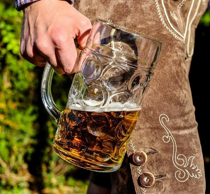 Helles Bier im Bierkrug