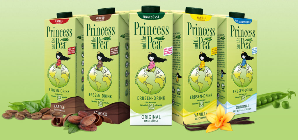 different plant milk drinks in an overview
