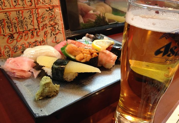 japanese craftbeer and sushi