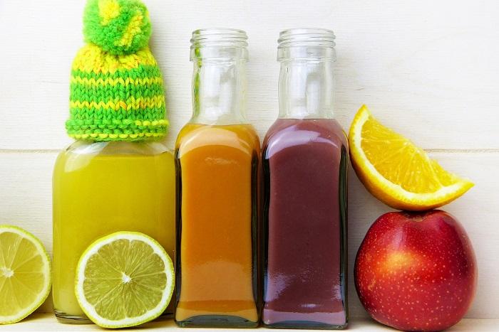 verschiedener Fruchtsaft