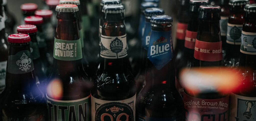 verschiedene Bierflaschen