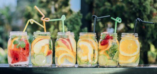 Gesunde Getränke mit Vitaminen