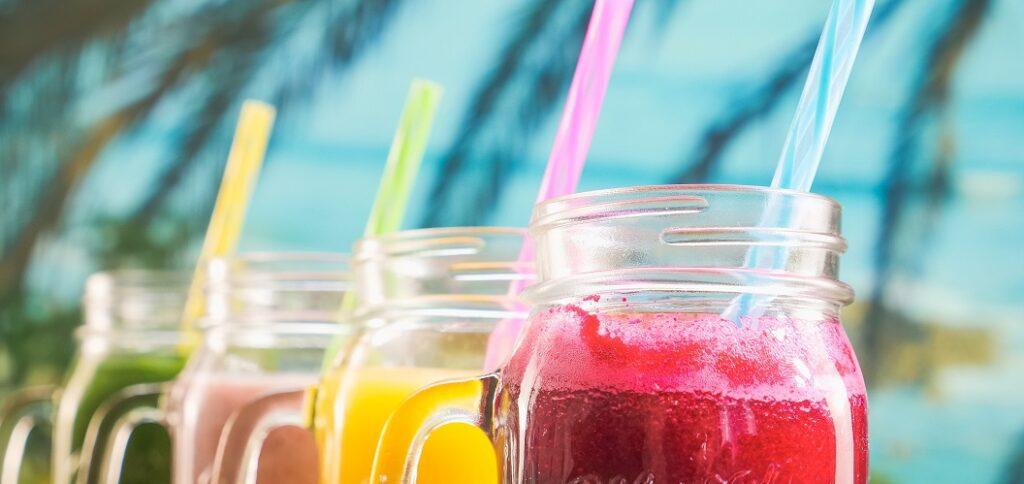 Fruit sparkling juices