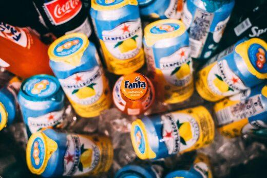 Softdrinks Fanta Eistee Cola